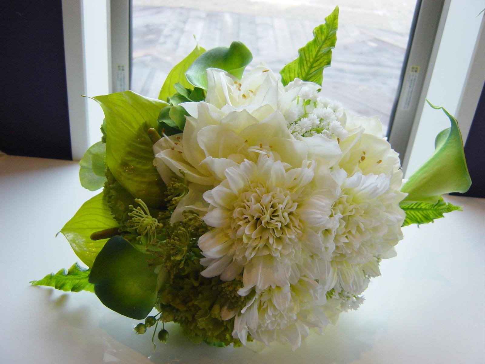 カタチに残る「造花のウェディングブーケ」(過去製作作品)