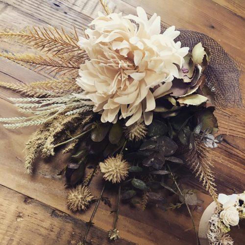 ドライフラワー風造花