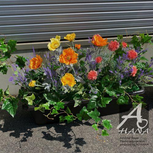 【造花装飾】プランターアレンジ(造花)のオーダー製作|造花専門店AOHANA